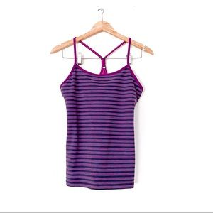 Lululemon Power Y Tank Top Stripe Space Dye Purple